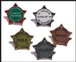 STAR BADGES with your own wording